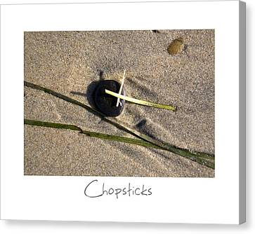 Chopsticks Canvas Print by Peter Tellone