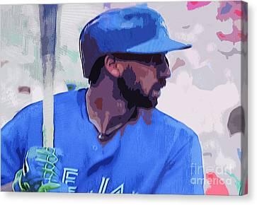 Chris Colabello Canvas Print by Nina Silver
