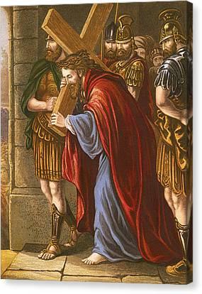 Christ Bearing The Cross Canvas Print by English School