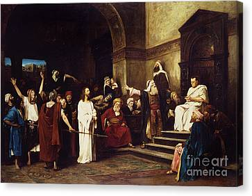 Christ Before Pilate Canvas Print by Mihaly Munkacsy