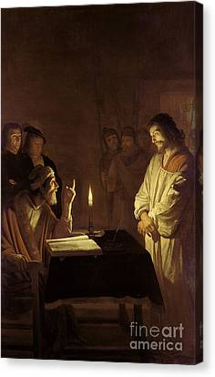 Christ Before The High Priest Canvas Print by Gerrit van Honthorst