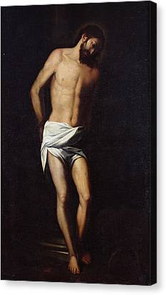 Christ Bound To The Column Canvas Print by Alonso Cano