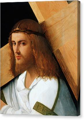 Christ Carrying The Cross Canvas Print by Giovanni Bellini