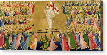 Christ Glorified In The Court Of Heaven Canvas Print by Fra Angelico