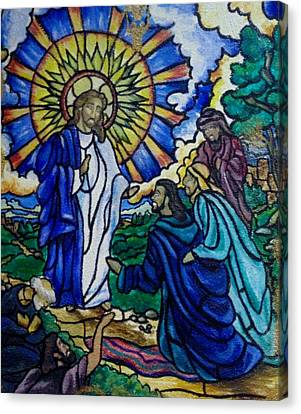 Christ Healing Blind Bartimaeus Canvas Print by Antoinette QUEENNETTATITI Allen