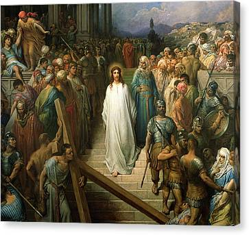 Christ Leaves His Trial Canvas Print by Gustave Dore