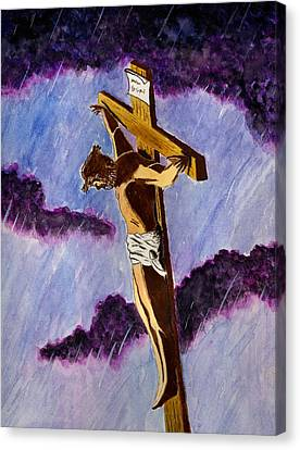 Christ On The Cross Canvas Print by Michael Vigliotti