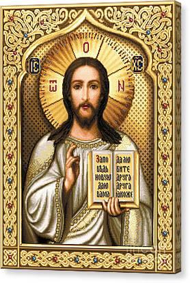 Christ Pantocrator Canvas Print by Stoyanka Ivanova