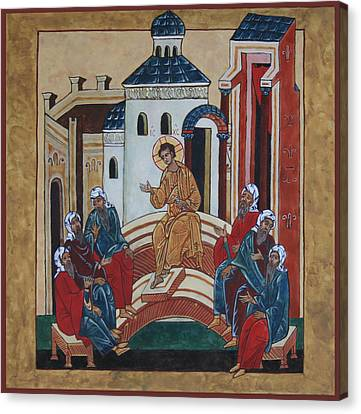 Christ Teaching In The Temple Canvas Print by Phillip Schwartz
