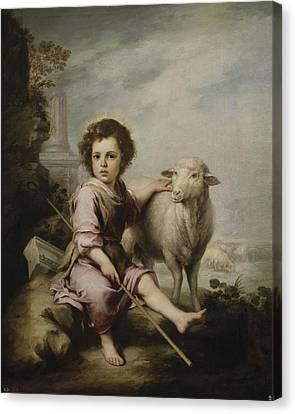 Christ The Good Shepherd Canvas Print by Murillo El Buen Pastor