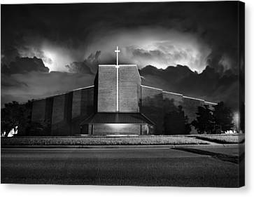 Christ The King Topeka Canvas Print by Thomas Zimmerman