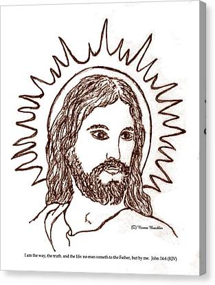 Christ The Savior Canvas Print by Norma Boeckler