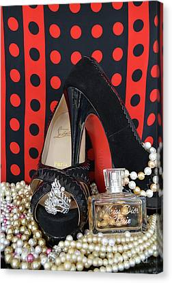 Christian Louboutin And Dior Canvas Print by To-Tam Gerwe