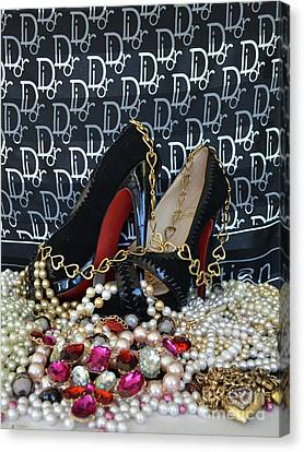 Christian Louboutin Shoes 3 Canvas Print by To-Tam Gerwe