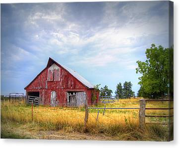 Christian School Road Barn Canvas Print by Cricket Hackmann