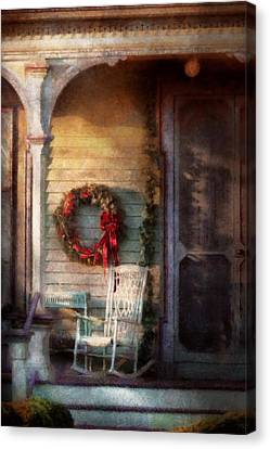 Christmas - Christmas Is Right Around The Corner Canvas Print by Mike Savad