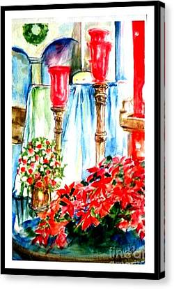 Christmas Altar At St Peters And Pauls Canvas Print by Patricia Ducher
