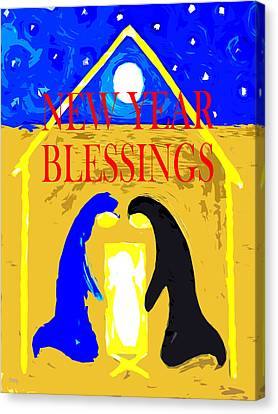 Christmas Blessings 6 Canvas Print by Patrick J Murphy