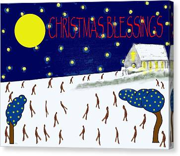 Christmas Blessings 8 Canvas Print by Patrick J Murphy