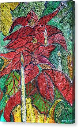 Christmas Candlelight Canvas Print by Mindy Newman