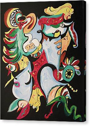 Christmas Chaos Canvas Print by Suzanne  Marie Leclair