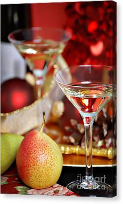 Christmas Cocktails Canvas Print by HD Connelly