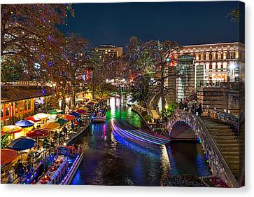 Christmas In San Antonio Canvas Print by Tod and Cynthia Grubbs