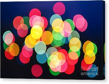 Christmas Lights Abstract Canvas Print by Elena Elisseeva