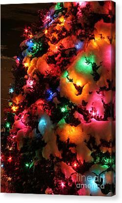 Christmas Lights Coldplay Canvas Print by Wayne Moran