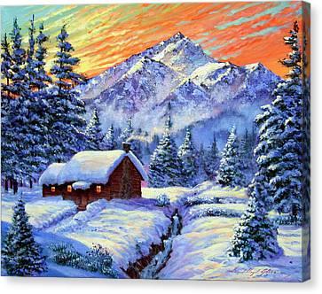 Christmas Morning Canvas Print by David Lloyd Glover