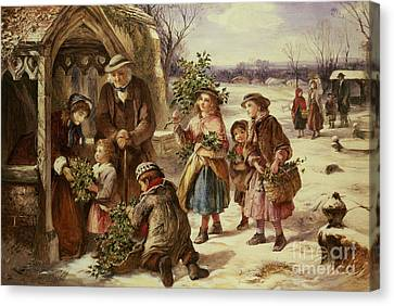 Christmas Morning Canvas Print by Thomas Falcon Marshall