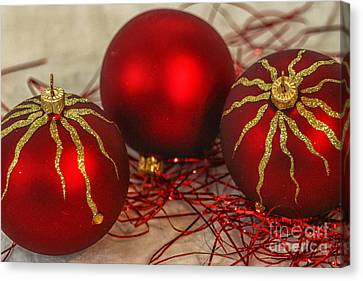 Christmas Ornaments Canvas Print by Patricia Hofmeester