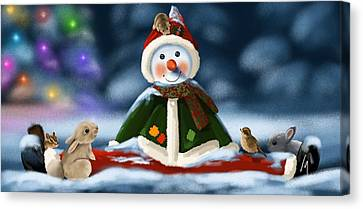 Christmas Party Canvas Print by Veronica Minozzi
