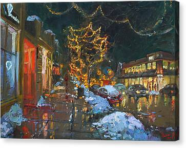 Christmas Reflections Canvas Print by Ylli Haruni