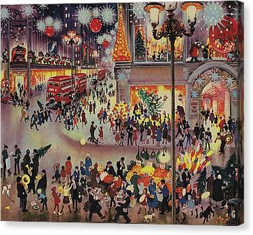 Christmas Shopping Canvas Print by English School