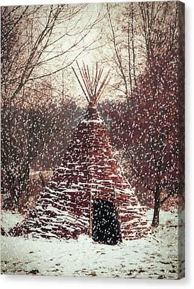 Christmas Tent Canvas Print by Wim Lanclus