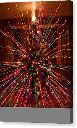 Christmas Tree Colorful Abstract Canvas Print by James BO  Insogna