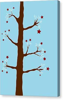 Christmas Tree Canvas Print by Frank Tschakert