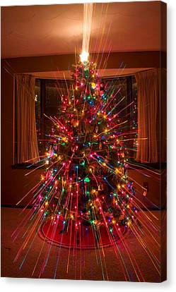 Christmas Tree Light Spikes Colorful Abstract Canvas Print by James BO  Insogna