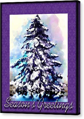 Christmas Tree Canvas Print by Susan Kinney