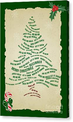 Christmas Tree Thoughts Canvas Print by Bedros Awak