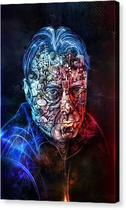 Christopher Hitchens Canvas Print by Robert Palmer