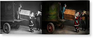 Chritstmas - How Santa Ruined Christmas 1924 - Side By Side Canvas Print by Mike Savad
