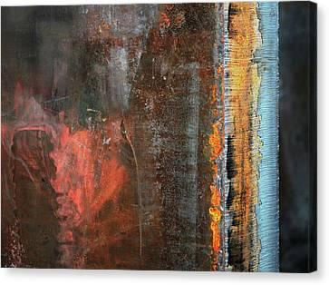 Chromatic Steel Canvas Print by Rona Black
