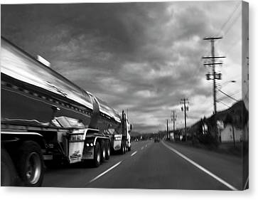 Chrome Tanker Canvas Print by Theresa Tahara