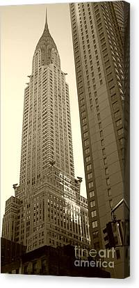 Chrysler Building Canvas Print by Debbi Granruth
