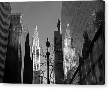 Chrysler Contrast Canvas Print by Jessica Jenney