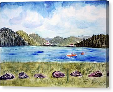 Chrystal Lake  Barton Vt  Canvas Print by Donna Walsh