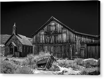 Church And Barn Canvas Print by Cat Connor