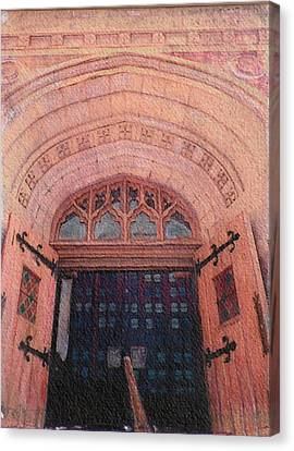 Church Doors Canvas Print by Kenny King
